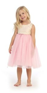 Angels Garment Big Girls Ivory Pink Silk Tulle Easter Spring Dress 7-10