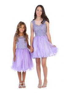 Angels Garment Big Girls Lilac AB Stone Applique Tulle Party Dress 6-16