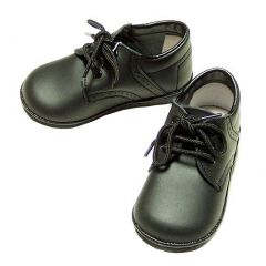 Baby Toddler Boys Black Classic Saddle Style Dress Shoes Size 1-7