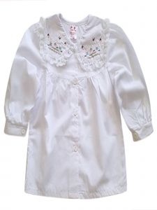 Baby Girls White Long Sleeve Button Up Bunny Embroidered Top 12M-24M
