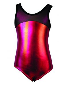 Reflectionz Big Girls Coral Two Tone Metallic Shine Dance Tank Leotard 10