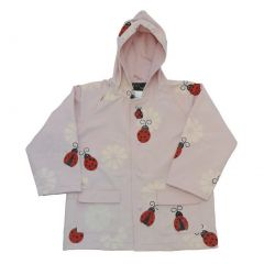 Baby Girls Pink Lady Bug Rain Coat 1T
