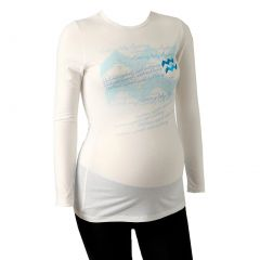 Love My Belly Women White Aquarius Long Sleeve Zodiac Maternity T-shirt 1 Size