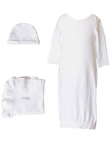 Baby Girls Bamboo 3pc Gown Hat Blanket Layette Set 3M-6M