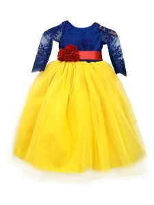 Sinai Kids Big Girls Yellow Snow White Melissa Flower Girl Dress 8-12
