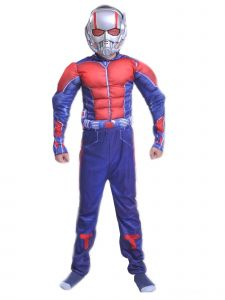 Wenchoice Big Kids Unisex Blue Ant-Man Muscle Halloween Costume 3-8