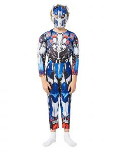 Big Kids Unisex Blue Transformat Optimus Prime Muscle Halloween Costume 3-8