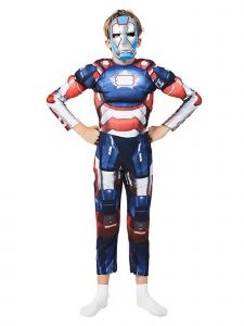 Wenchoice Little Kids Unisex Blue Iron Patriot Muscle Halloween Costume 3-4