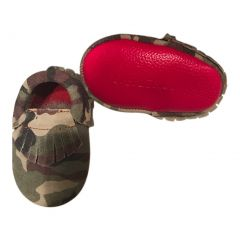 Baby Girls Camo Red Soft Sole Suede Exotic Moccasin Crib Shoes 3-18M