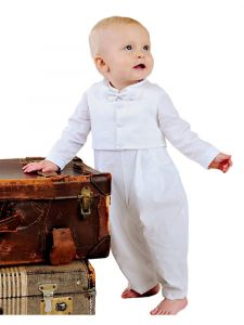 Little Things Mean A Lot Baby Boys White Alexander Christening Outfit 3-24M
