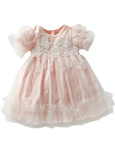 Baby Girls Multi Color Flower Lace Tulle Ruffle Headband Easter Dress 9-24M