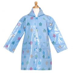 Pluie Pluie Boys Outerwear Blue Robot Print Unlined Raincoat 12M-8
