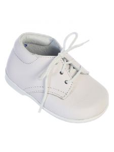Tip Top Kids Baby Boys White Leather Lace Up Dress Shoes 4 Baby