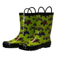 Foxfire Little Boys Green Sand Toys Rubber Rain Boots 5-10 Toddler