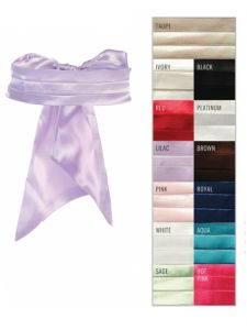 Tip Top Kids Girls Multi Color Satin Cummerbund Special Occasion Elegant Sash