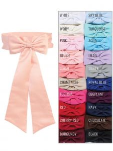 Tip Top Kids Girls Multi Color Premade Bow Special Occasion Elegant Belt Sash