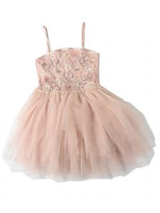 Ooh! La, La! Couture Girls Pink Secret Garden Flower Girl Dress 2T-7