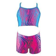 Reflectionz Little Girls Hot Pink Zebra Dot Pattern Top Shorts 2 Pc Set 4-6