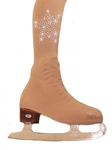 Ice Fire Skating Girls Nude Over The Boot Rhinestone Stars Tights 4-14