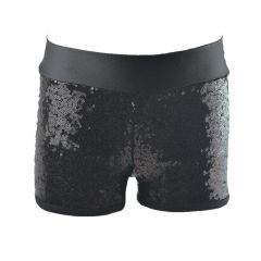 Reflectionz Big Girls Black Sequin Shorts 8-10