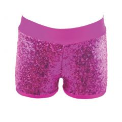 Reflectionz Big Girls Fuchsia Sequin Shorts 8-10