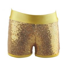 Reflectionz Little Girls Gold Sequin Shorts 4-6