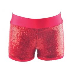 Reflectionz Big Girls Red Sequin Shorts 8-10