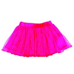 Reflectionz Baby Girls Hot Pink Lined Glitter Tulle Birthday Skirt 12M