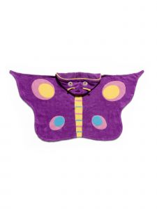 Kidorable Little Girls Purple Butterfly Cotton Absorbent Hooded Towel M