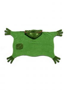 Kidorable Little Boys Green Frog Top Button Cotton Absorbent Hooded Towel M