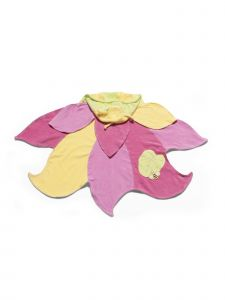 Kidorable Little Girls Pink Lotus Flower Cotton Absorbent Hooded Towel M