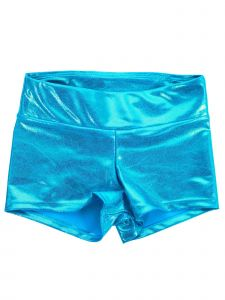 Veva By Very Vary Womens Sky Blue Foil Twinkle Gymnastics Shorts XS-S