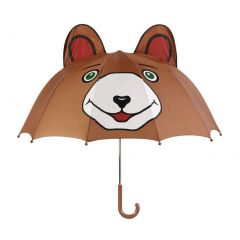 Kidorable Boys Brown Child Size Bear Ears Lightweight Umbrella