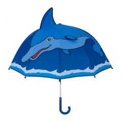 Kidorable Boys Blue Child Size Lightweight Dolphin Umbrella