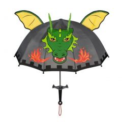 Kidorable Boys Grey Child Size Lightweight Ears Dragon Knight Umbrella