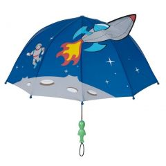 Kidorable Boys Blue Child Size Lightweight Space Hero Umbrella