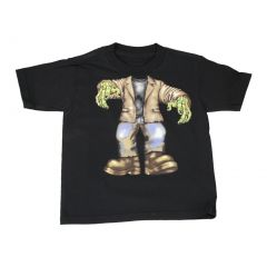 Boys Black Zombie Halloween Short Sleeve T-Shirt Top 6-16