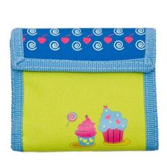 Aquarella Kids Girls Blue Yellow Cupcakes Wallet