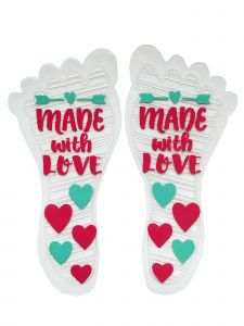 Sticky Feet Baby Girls Made With Love Eco Friendly Anti Slips Soles 6M-2T