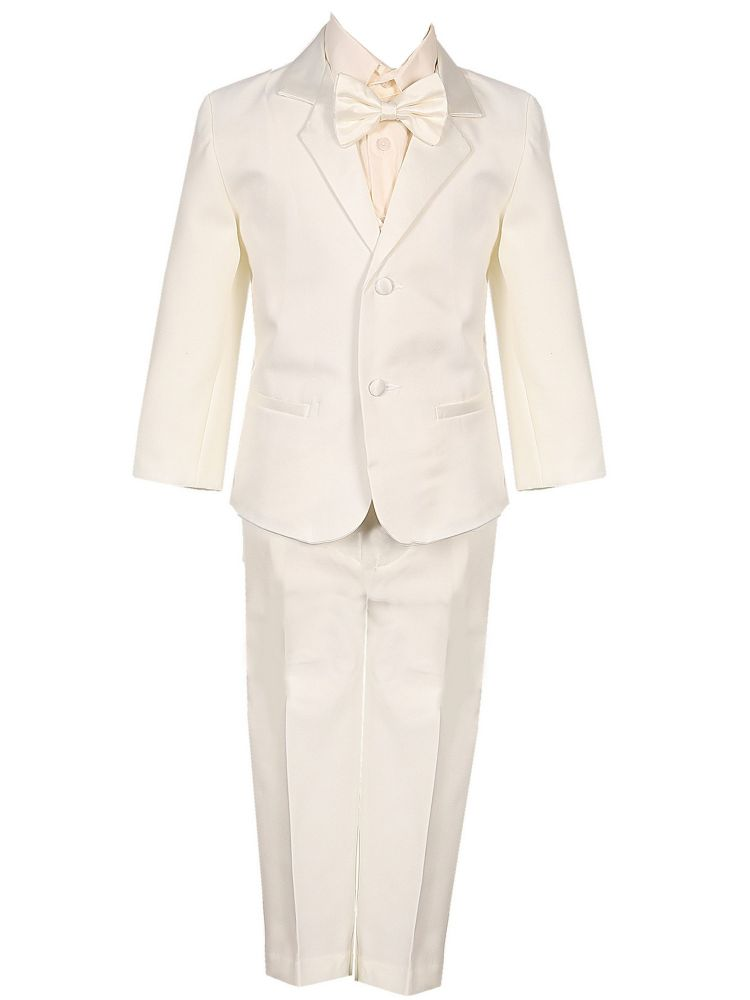 Baby Boys Ivory 5 Piece Vest Jacket Pants Special Occasion Tuxedo Suit 3-24M