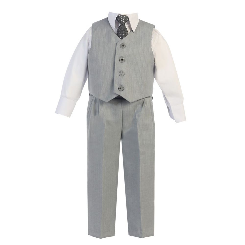 Lito Baby Boys Black Vest Pants Special Occasion Easter Outfit Set 6-24M