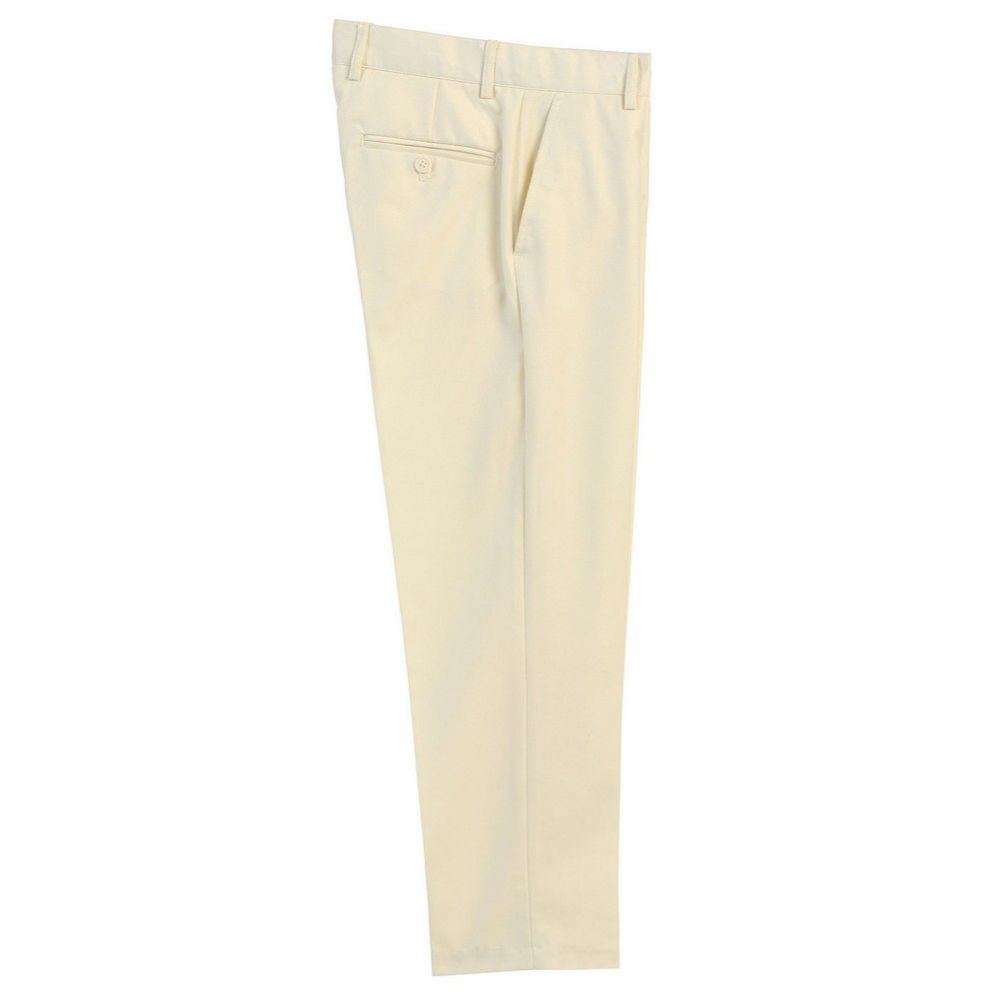 Big Boys Gray Flat Front Formal Special Occasion Dress Pants 8-18